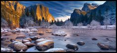 Yosemite Valley View. I took this shot in February. It had stopped snowing a few hours ago. I was the only person there!