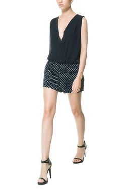 Image 1 of COMBINATION CROSSOVER PLAYSUIT from Zara