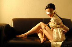 Barefoot Bondage on the Sofa by ilovefrenchgirls on DeviantArt