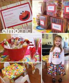 Modern Elmo Party Inspiration - Hostess with the Mostess®