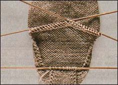 how to knit socks - turning the heel of your sock