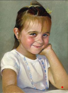 oil on canvas painting of kids portraits