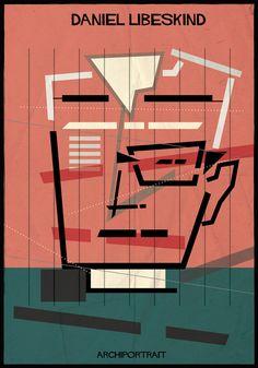 The Latest Illustration from Federico Babina: ARCHIPORTRAIT,Daniel Libeskind. Image Courtesy of Federico Babina