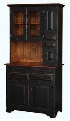 Add some extra storage space for your dining room or kitchen essentials with this country style Hoosier Cabinet. Handcrafted by skilled Amish craftsmen. Amish Furniture, Primitive Furniture, Country Furniture, Kitchen Furniture, Country Decor, Country Style, Lounge Furniture, Primitive Hutch, Bedroom Furniture