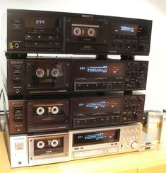 Vintage 1980's Sony ES Tape Deck Collection...