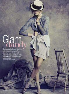 Glam dandy   Kori Richardson   Tesh #photography   Marie Claire US March 2012