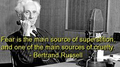 bertrand russell, quotes, sayings, meaningful, about fear, deep
