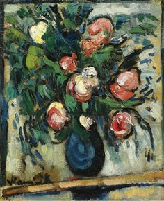 Maurice de Vlaminck ~ Vase with Roses, 1907-08