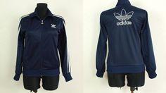 Kid s Adidas jacket, Size EUR 176 90s Adidas original Adidas windbreaker  Vintage Adidas navy blue 46f36b26f1