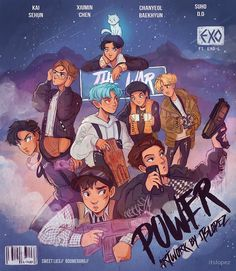 Read Exo from the story Imaginas kpop by chichibelieber with reads. Kpop Exo, Exo Chanyeol, Exo Bts, Exo Memes, Exo Fanart, Kpop Anime, Character Art, Character Design, Itslopez