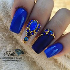 34 Ideas coffin nails matte navy for 2019 Coffin Nails Matte, Aycrlic Nails, Bling Nails, Love Nails, Hair And Nails, Nail Jewels, Diy Nail Designs, Luxury Nails, Diamond Nails