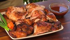 """Jamaican Jerk Chicken is one of my favorite chicken dishes. The smells of the herbs and spices mixing with the smoke are out-of-this-world. This is a pretty authentic recipe, and I show you a little trick to get that """"pimento wood"""" smoky flavor. Jerk Chicken, Marinated Chicken, Grilled Chicken, Cooking On The Grill, Barbecue Recipes, Smoking Meat, Spice Mixes, How To Cook Chicken, Food Processor Recipes"""
