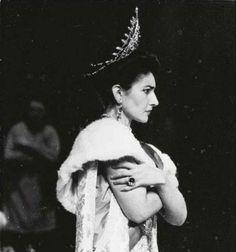 One of the rarities: Maria Callas as Fedora in Giordano's same named opera. Starring with Franco Corelli. La Scala, 1956.