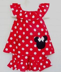 86d1fdd964fc Custom Boutique Clothing Minnie Mouse boat neck Short set. Disney World TripBaby  Girl DressesLittle ...
