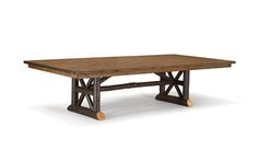 "The question, ""Who's coming for dinner?"" invariably presents another question: ""What size rustic dining table - and how many chairs - do we need? Rustic Furniture, Table Furniture, Furniture Design, Industrial Metal, Rustic Table, Table And Chairs, Dining Bench, Presents, Lounge"