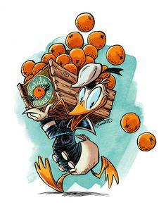 Donald Duck   by RobbVision @ DeviantART.com // #disney