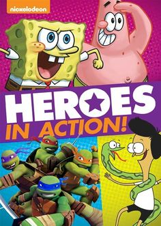 Its Nickelodeon heroes to the rescue in these five action-packed adventures that include superhero Patrick-Man challenging the Dirty Bubble, the Turtles battling an unhinged villain in mechanical armor, Sanjay and Craig joining a peculiar police force, and more!
