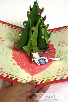 I want to make this Christmas pop up card! Anyone know how?