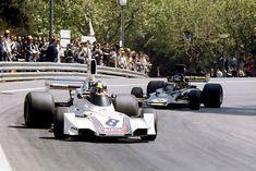 José Carlos Pace (BRA) (Martini Racing), Brabham BT44B - Ford-Cosworth DFV 3.0 V8 (RET)Bengt Ronnie Peterson (SWE) (John Player Team Lotus), Lotus 72E - Ford-Cosworth DFV 3.0 V8 (RET)1975 Spanish Grand Prix, Montjuïc Circuit