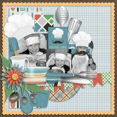 Layout using {In The Kitchen} Digital Scrapbook Kit by Meagan's Creations http://www.gottapixel.net/store/manufacturers.php?manufacturerid=203&&sort=date_added&sort_direction=0&page=1