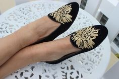 velvet . embroidered . Albert design coast and koi shoes