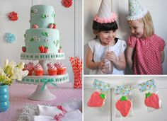 Birthday Party Ideas - red/turquoise