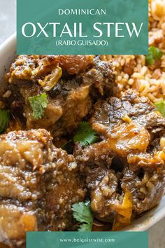 Tender and insanely flavorful oxtail. there is no going back! Dominican Oxtail Recipe, Dominican Food, Dominican Recipes, Oxtail Meat, Oxtail Stew, Oxtail Recipes, Curry Recipes, Soul Food Kitchen, Hispanic Dishes