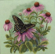 butterfly and daisies 1/6