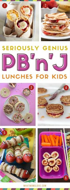 Take your kids' PBJ to the next level with these incredible Peanut Butter Jelly recipes that go beyond the classic sandwich. Easy ideas for picky eaters! #toddlermeals