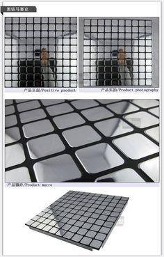 Gold Spiegel Mosaik Fliesen Küche Decke Metall Decke In Spiegel Mosaik  MetalldeckeGröße: 30cm*30cm