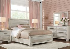 picture of Sofia Vergara Cambrian Court White 5 Pc Queen Panel Bedroom from Queen Bedroom Sets Furniture