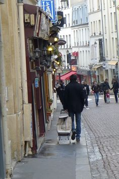 Rue Mouffetard, this is a block from our apartment on Rue Monge.  Can not wait for June!