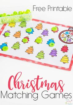 Try these free printable Christmas matching games from Life Over C's! These games are perfect for a fun Christmas theme learning activity. Your kids can learn about matching while playing! Try this fun Christmas matching game this holiday season! #christmas #games #kids #holiday #learn #kidsactivities