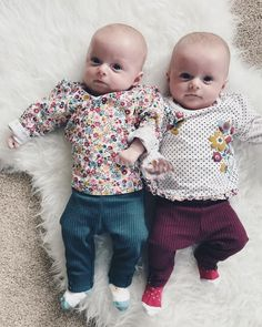 13 Weeks  Today the girls had their next lot of injections... I'm convinced they knew it was coming by these faces!
