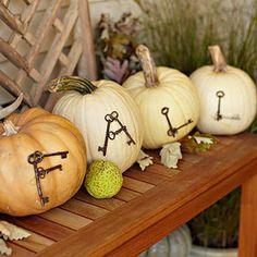 Antique-Key Fall Pumpkins