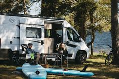 There are several Swedish websites that can help you find a location to park your van overnight. Here, First Camp Oknö-Mönsterås, beautifully located by the water in Småland. Photo: Alexander Hall