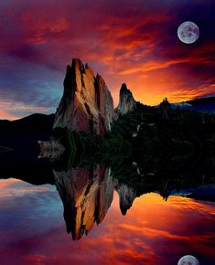 Garden Reflections (Garden of the Gods, Colorado) by John Hoffman