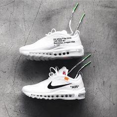 "#nikeoffwhite#offwhite#nike#nikeair97 @nike ""AIR"" 97 Nike Shoes, Shoes Sneakers, Nike Winter Shoes, Sneaker Boots, Puma Sneakers, Air Max 97, Nike Air Max, Sneakers Fashion, Fashion Shoes"