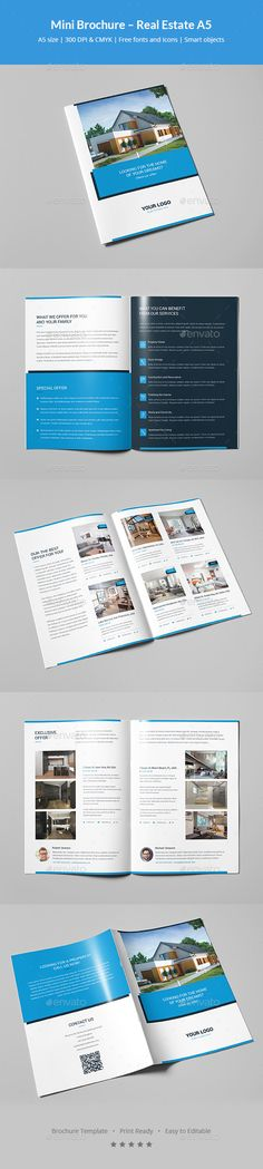 Real Estate Trifold Brochure Brochures, Brochure template and - real estate proposal template