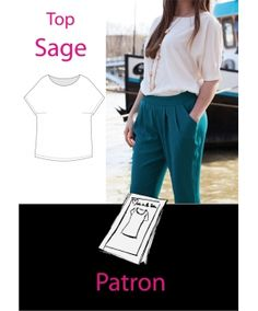 """Patron top """"Sage"""" - 36-48 - Made in Me"""
