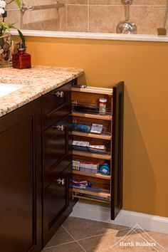 master bathroom vanities double sink with makeup  | Vanity Organization Design Ideas, Pictures, Remodel and Decor