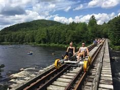 Pedal along railroad tracks for some seriously awesome views.