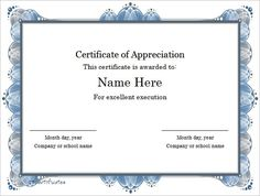 making certificates in word