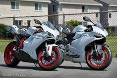 Ducati 899 panigale and Ducati 848 evo