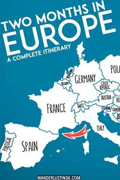 Planning your first European trip? A complete itinerary for Europe in two months that covers eleven countries! Include advice on the best cities to visit in Europe during your Eurotrip, including Paris, Berlin, Amsterdam, Prague, Lisbon... #travel #Europe #Eurotrip #Paris