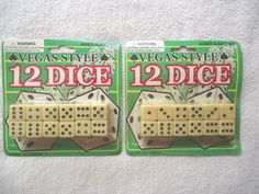 2 Packs Of Vegas Style 12 Dice