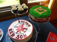 Boston Red Sock Cakes