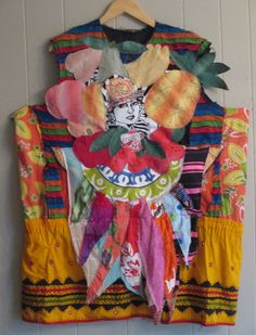 fruity Ethnic Artisan Smock  Oversized Tunic Dress  by MyBonny