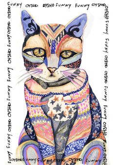 OYSHO by Maria Gomez, cat, watercolor, journal