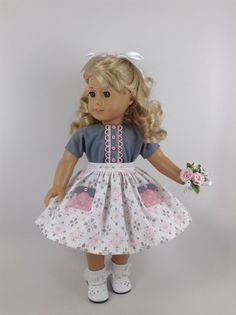 Handmade 1950s skirt, blouse, cape, and petticoat for American Girl and other similar 18-inch dolls. Maryellen (or any dolly) will look adorable